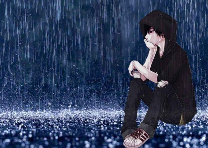 Status mưa buồn cho con trai
