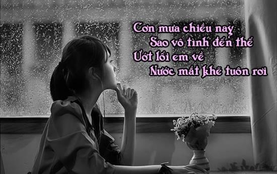 Những stt hay, câu nói về mưa buồn tâm trạng cho con gái