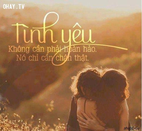 tình yêu không cần phải hoàn hảo